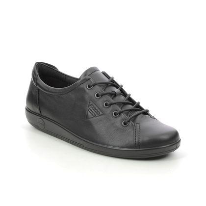 ECCO Comfort Lacing Shoes - Black - 206503/56723 SOFT 2.0