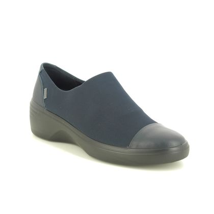 ECCO Comfort Slip On Shoes - Navy - 470913/50769 SOFT 7 CAP GTX