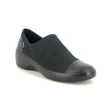 ECCO Comfort Slip On Shoes - Black - 470913/51052 SOFT 7 CAP GTX