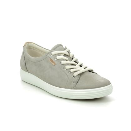 ECCO Comfort Lacing Shoes - Grey nubuck - 430003/02375 SOFT 7 LACE