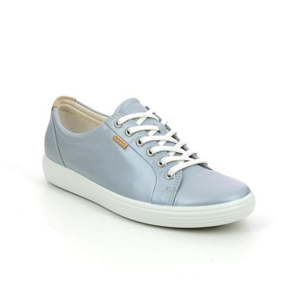 ECCO Trainers - Silver Leather - 430003/52593 SOFT 7 LACE
