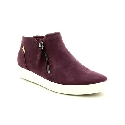 ECCO Fashion Ankle Boots - Wine - 430243/01070 SOFT 7 LADIES BOOT