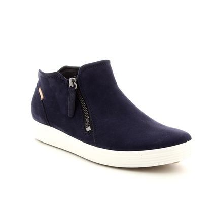 ECCO Fashion Ankle Boots - Navy - 430243/02303 SOFT 7 LADIES BOOT