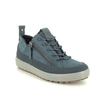 ECCO Walking Shoes - Navy nubuck - 450363/01038 SOFT 7 LO GTX