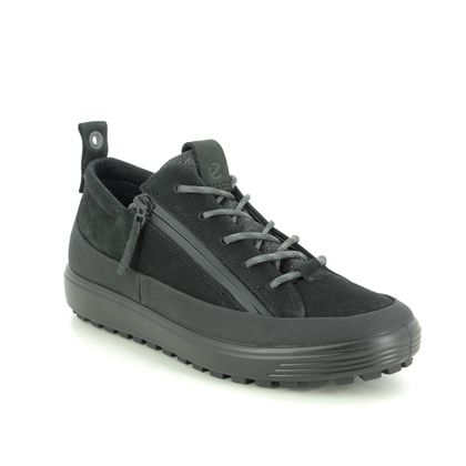 ECCO Walking Shoes - Black nubuck - 450363/02001 SOFT 7 LO GTX