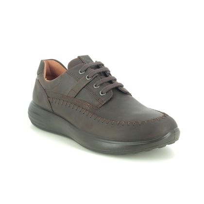 ECCO Casual Shoes - Brown waxy leather - 460714/02178 SOFT 7 MENS RUNNER