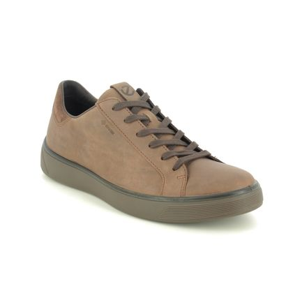 ECCO Casual Shoes - Brown nubuck - 504574/55778 STREET TRAY GTX