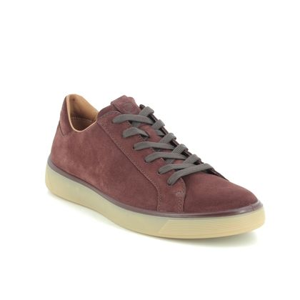 ECCO Casual Shoes - Burgundy suede - 504564/05474 STREET TRAY MENS