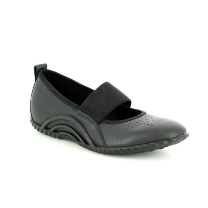 ECCO Mary Jane Shoes - Black leather - 206133/01001 VIBRATION 1.0