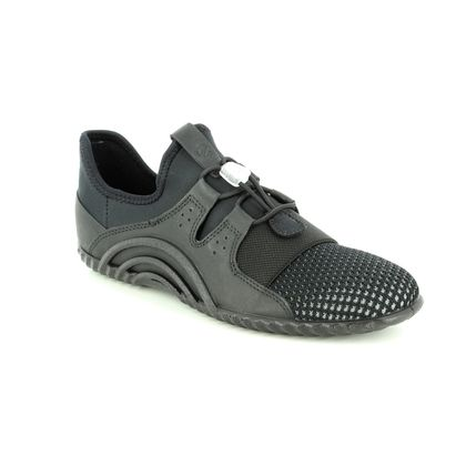 ECCO Trainers - Black leather - 206103/01001 VIBRATION BUNGE