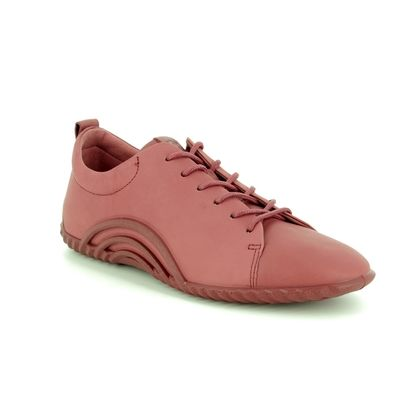 ECCO Comfort Lacing Shoes - Red leather - 206113/01249 VIBRATION LACE