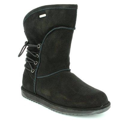 EMU Australia Fashion Ankle Boots - Black Suede - W11245/30 ISLAY