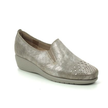 Flex and Go Comfort Slip On Shoes - Taupe leather - ST052609 DORY