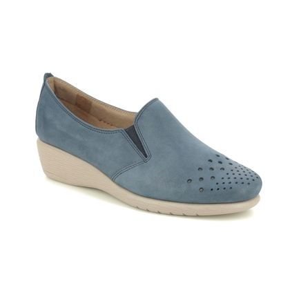 Flex and Go Comfort Slip On Shoes - Navy leather - ST052618 DORY