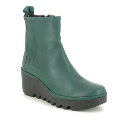 Fly London Wedge Boots - Green - P501250 BALE