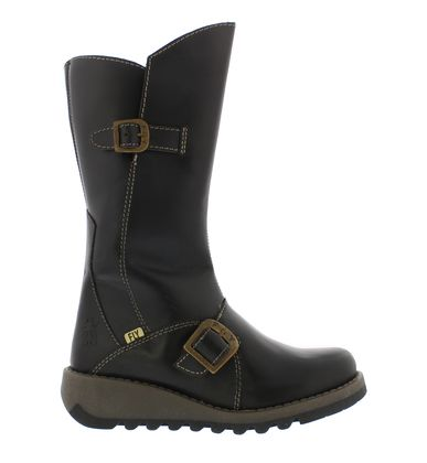Fly London Girls Boots - Black leather - P144337 MES 2 KIDS