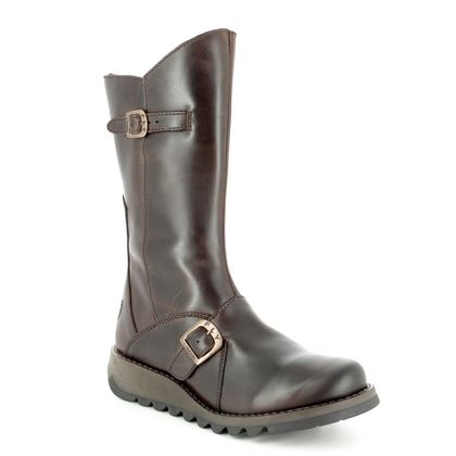 Fly London Ankle Boots - Dark Brown - P142913 MES 2