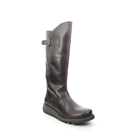 Fly London Knee High Boots - Brown leather - P142912 MOL 2