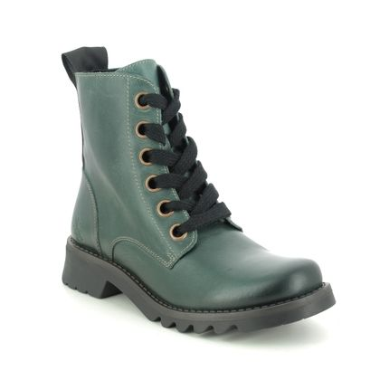 Fly London Lace Up Boots - Petrol leather - P144539 RAGI