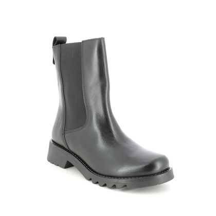 Fly London Chelsea Boots - Black leather - P144795 REIN   RONIN