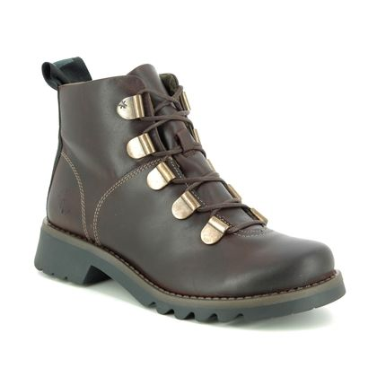 Fly London Boots - Ankle - Brown leather - P144544 ROJI