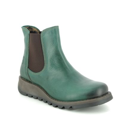 Fly London Chelsea Boots - Petrol leather - P143195 SALV