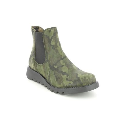 Fly London Chelsea Boots - Camouflage - P143195 SALV
