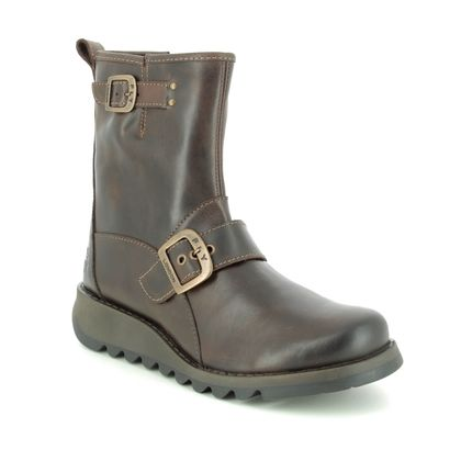 Fly London Ankle Boots - Brown leather - P144525 SINO
