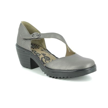 Fly London Wedge Sandals - Pewter - P501144 WAKO