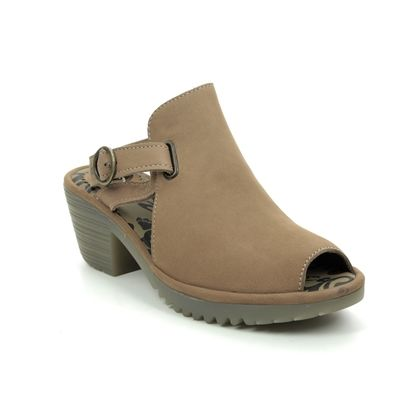 Fly London Wedge Sandals - Tan Nubuck - P501137 WENA