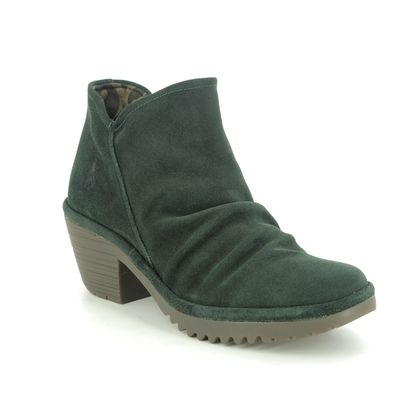 Fly London Ankle Boots - Green Suede - P500890 WEZO
