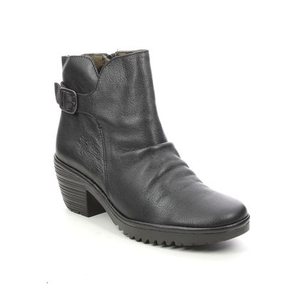 Fly London Ankle Boots - Black leather - P501346 WINA   WILLOW