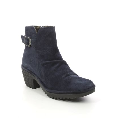 Fly London Ankle Boots - Navy Suede - P501346 WINA   WILLOW