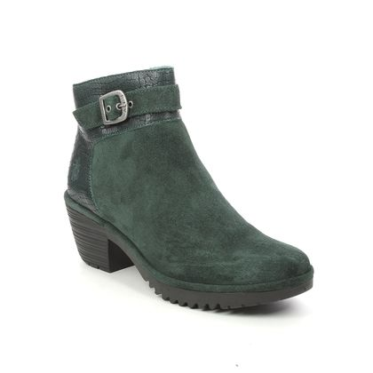 Fly London Ankle Boots - Green Suede - P501342 WISP   WILLOW