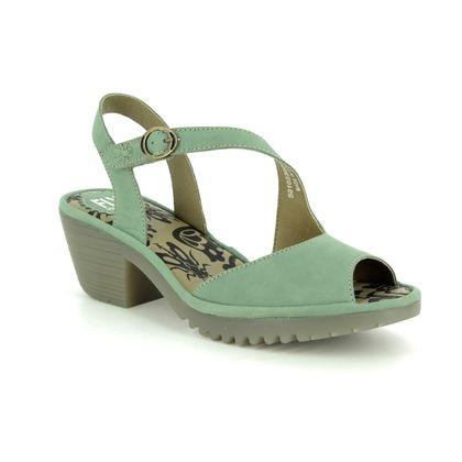Fly London Wedge Sandals - Jade green - P501023 WYNO