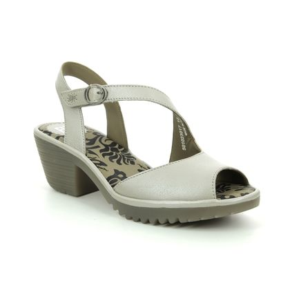 Fly London Wedge Sandals - Silver - P501023 WYNO