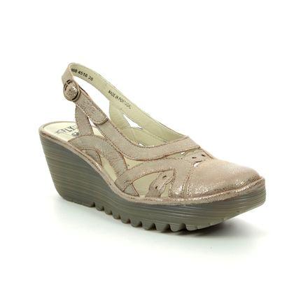Fly London Wedge Shoes  - Metallic - P501022 YDUN