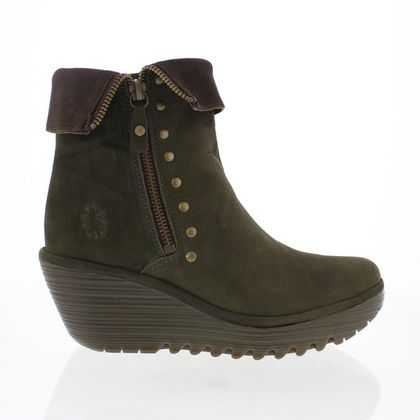 Fly London Fashion Ankle Boots - Green - P500902 YEMI