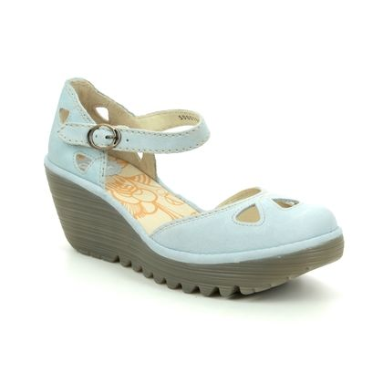 Fly London Wedge Shoes  - Pale blue - P500016 YUNA