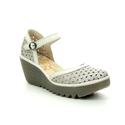 Fly London Wedge Shoes  - Champagne - P501029 YVEN
