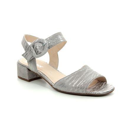 Gabor Heeled Sandals - Silver metallic - 21.702.63 ADAPT