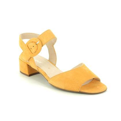 Gabor Heeled Sandals - Yellow Nubuck - 41.702.13 ADAPT