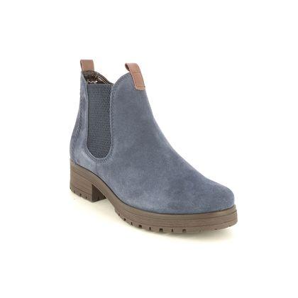Gabor Chelsea Boots - Navy suede - 72.091.26 AGENDA