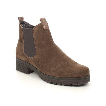 Gabor Chelsea Boots - Tan suede - 72.091.41 AGENDA