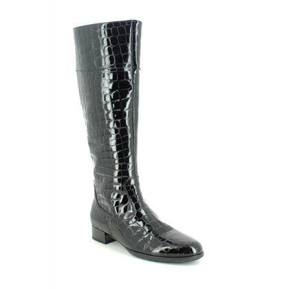 Gabor Knee High Boots - Black croc - 55.509.97 ASHLEIGH