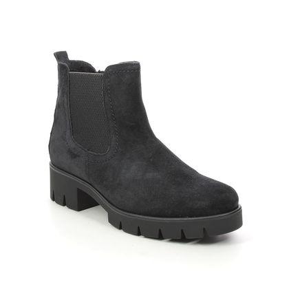 Gabor Chelsea Boots - Navy Suede - 71.710.16 BODO   NITON