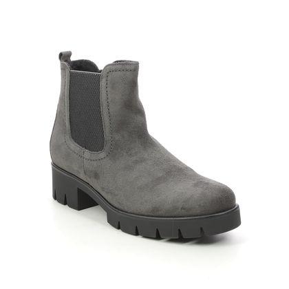 Gabor Chelsea Boots - Grey-suede - 71.710.19 BODO   NITON