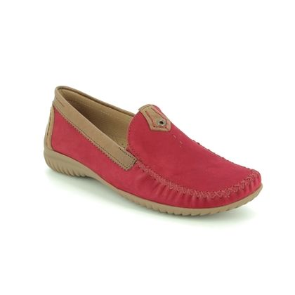 Gabor Loafers and Moccasins - Red-tan combi - 46.090.48 CALIFORNIA