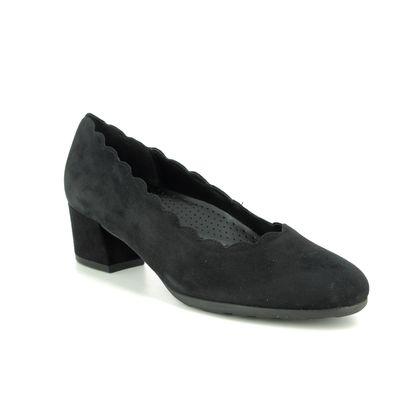 Gabor Court Shoes - Black Suede - 32.211.47 DALLAS