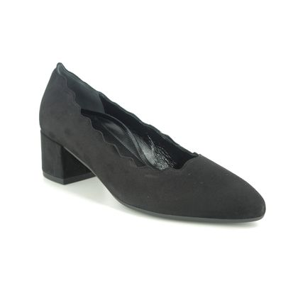 Gabor Court Shoes - Black suede - 52.141.47 DENT